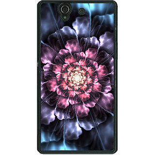 1 Crazy Designer Abstract Flower Pattern Back Cover Case For Sony Xperia Z C461514