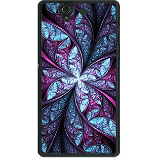 1 Crazy Designer Abstract Flower Pattern Back Cover Case For Sony Xperia Z C461520