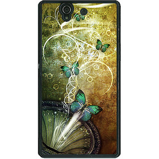 1 Crazy Designer Abstract Butter Fly Pattern Back Cover Case For Sony Xperia Z C461525