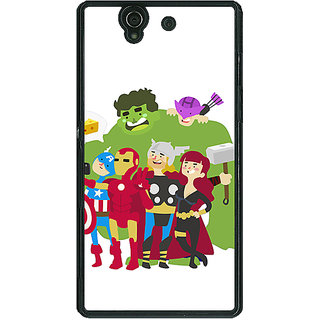 1 Crazy Designer Superheroes Baby Avengers Back Cover Case For Sony Xperia Z C460337