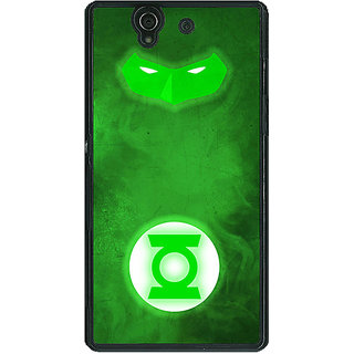 1 Crazy Designer Superheroes Green Lantern Back Cover Case For Sony Xperia Z C460339