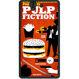 1 Crazy Designer Pulp Fiction Back Cover Case For Sony Xperia Z C460355