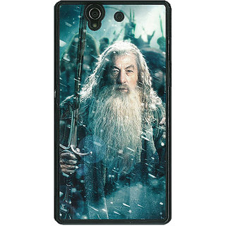 1 Crazy Designer LOTR Hobbit Gandalf Back Cover Case For Sony Xperia Z C460363