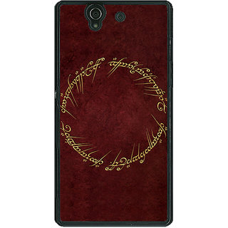 1 Crazy Designer LOTR Hobbit  Back Cover Case For Sony Xperia Z C460369