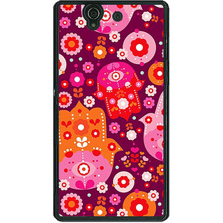1 Crazy Designer Floral Pattern  Back Cover Case For Sony Xperia Z C460656