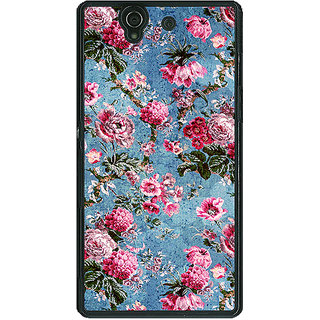 1 Crazy Designer Floral Pattern  Back Cover Case For Sony Xperia Z C460664