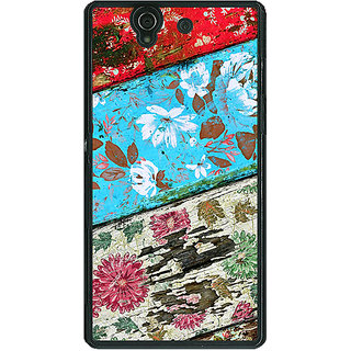 1 Crazy Designer Floral Pattern  Back Cover Case For Sony Xperia Z C460672