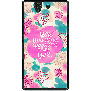1 Crazy Designer Floral Pattern  Back Cover Case For Sony Xperia Z C460677