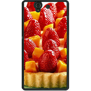 1 Crazy Designer Strawberry Tart Back Cover Case For Sony Xperia Z C460686