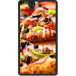 1 Crazy Designer Pizza Love Back Cover Case For Sony Xperia Z C460691