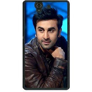 1 Crazy Designer Bollywood Superstar Ranbir Kapoor Back Cover Case For Sony Xperia Z C460923
