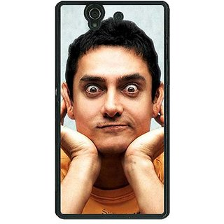 1 Crazy Designer Bollywood Superstar Aamir Khan Back Cover Case For Sony Xperia Z C460934