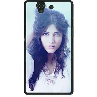 1 Crazy Designer Bollywood Superstar Shruti Hassan Back Cover Case For Sony Xperia Z C460988