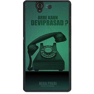 1 Crazy Designer Bollywood Superstar Hera Pheri Devi Prasad Back Cover Case For Sony Xperia Z C461112