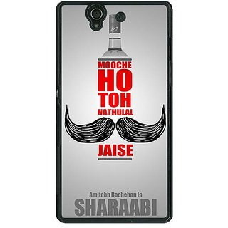 1 Crazy Designer Bollywood Superstar Natwarlal Sharaabi Back Cover Case For Sony Xperia Z C461122