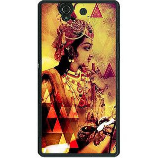 1 Crazy Designer Lord Krishna Back Cover Case For Sony Xperia Z C461280