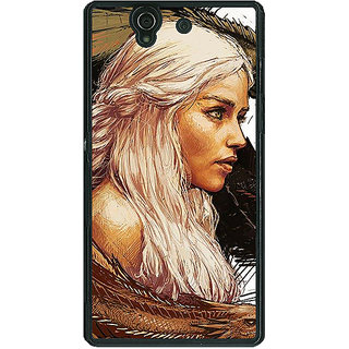 1 Crazy Designer Game Of Thrones GOT Khaleesi Daenerys Targaryen Back Cover Case For Sony Xperia Z C461534
