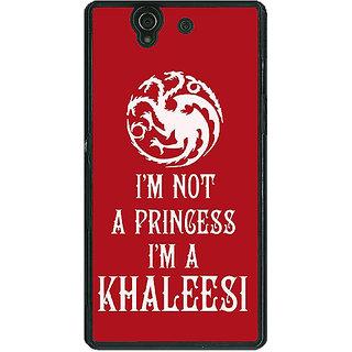 1 Crazy Designer Game Of Thrones GOT Princess Khaleesi Back Cover Case For Sony Xperia Z C461536
