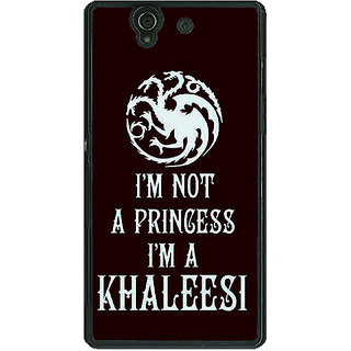 1 Crazy Designer Game Of Thrones GOT Princess Khaleesi Back Cover Case For Sony Xperia Z C461537