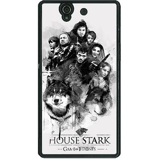 1 Crazy Designer Game Of Thrones GOT House Stark Back Cover Case For Sony Xperia Z C461541