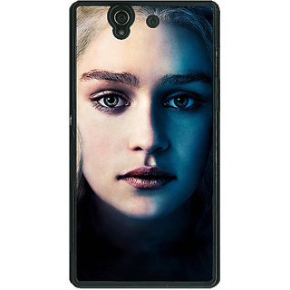 1 Crazy Designer Game Of Thrones GOT Khaleesi Daenerys Targaryen Back Cover Case For Sony Xperia Z C461551