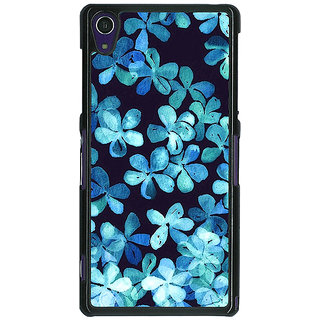 1 Crazy Designer Night Blue Flowers Pattern Back Cover Case For Sony Xperia Z1 C470257