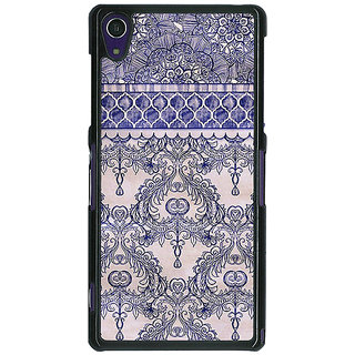 1 Crazy Designer Vintage English Pattern Back Cover Case For Sony Xperia Z1 C470259