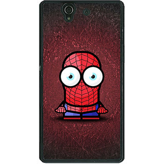 1 Crazy Designer Big Eyed Superheroes Spiderman Back Cover Case For Sony Xperia Z C460398