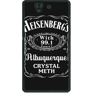1 Crazy Designer Breaking Bad Heisenberg Back Cover Case For Sony Xperia Z C460402