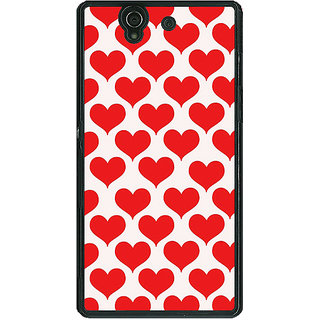 1 Crazy Designer Hearts Back Cover Case For Sony Xperia Z C460703