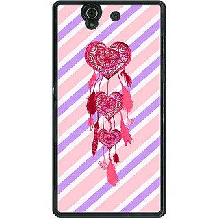 1 Crazy Designer Heart Dream Catcher Back Cover Case For Sony Xperia Z C460704