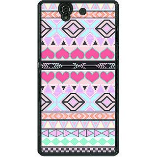1 Crazy Designer Aztec Tribal  Back Cover Case For Sony Xperia Z C460705