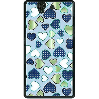 1 Crazy Designer Hearts Back Cover Case For Sony Xperia Z C460706
