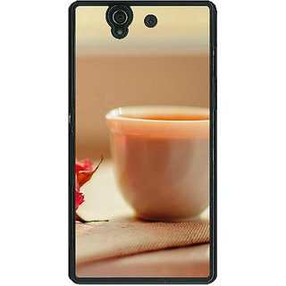 1 Crazy Designer Coffee Date Back Cover Case For Sony Xperia Z C460714