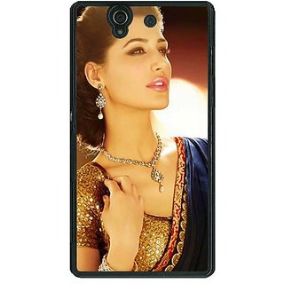 1 Crazy Designer Bollywood Superstar Nargis Fakhri Back Cover Case For Sony Xperia Z C460997