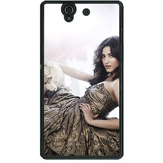 1 Crazy Designer Bollywood Superstar Shruti Hassan Back Cover Case For Sony Xperia Z C461014