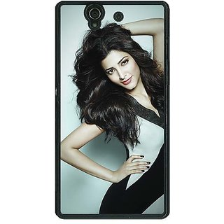 1 Crazy Designer Bollywood Superstar Shruti Hassan Back Cover Case For Sony Xperia Z C461015