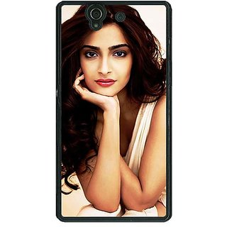 1 Crazy Designer Bollywood Superstar Sonam Kapoor Back Cover Case For Sony Xperia Z C461016