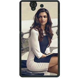 1 Crazy Designer Bollywood Superstar Deepika Padukone Back Cover Case For Sony Xperia Z C461019