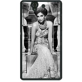 1 Crazy Designer Bollywood Superstar Sonam Kapoor Back Cover Case For Sony Xperia Z C461021
