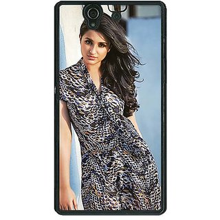 1 Crazy Designer Bollywood Superstar Parineeti Chopra Back Cover Case For Sony Xperia Z C461030