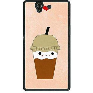 1 Crazy Designer Milkshake Love Back Cover Case For Sony Xperia Z C461134