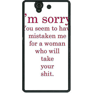 1 Crazy Designer Quote Back Cover Case For Sony Xperia Z C461331