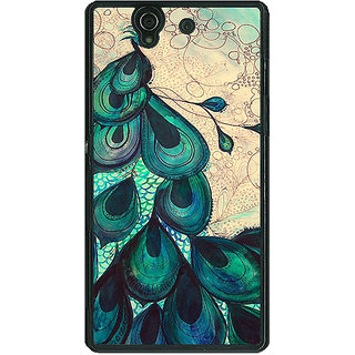 1 Crazy Designer Paisley Beautiful Peacock Back Cover Case For Sony Xperia Z C461585