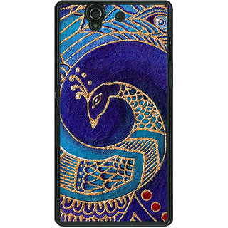 1 Crazy Designer Paisley Beautiful Peacock Back Cover Case For Sony Xperia Z C461589