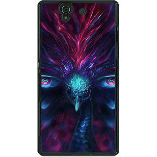 1 Crazy Designer Paisley Beautiful Peacock Back Cover Case For Sony Xperia Z C461594