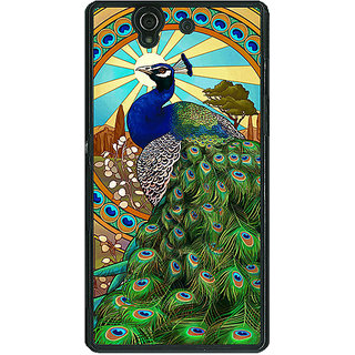 1 Crazy Designer Paisley Beautiful Peacock Back Cover Case For Sony Xperia Z C461595
