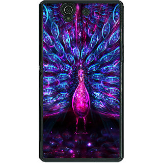 1 Crazy Designer Paisley Beautiful Peacock Back Cover Case For Sony Xperia Z C461600