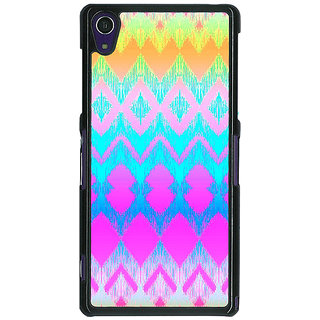1 Crazy Designer Psychdelic Triangles Pattern Back Cover Case For Sony Xperia Z1 C470248