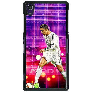 1 Crazy Designer Cristiano Ronaldo Real Madrid Back Cover Case For Sony Xperia Z1 C470304
